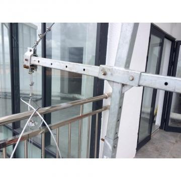 Aluminium ZLP630 platform gondola for curtain wall installation in Malaysia