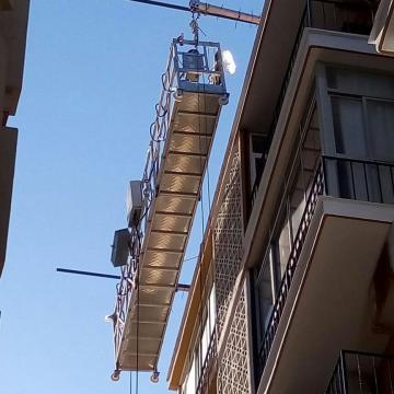Building cleaning unit aluminum suspended rope platform ZLP630
