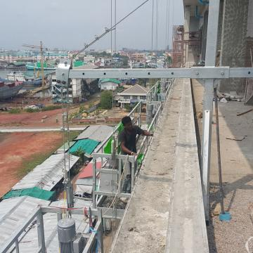 Painting steel ZLP630 ZLP800 suspended rope platform for construction cleaning