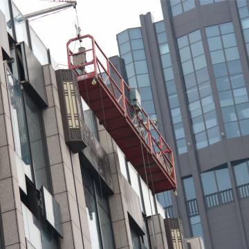 Window cleaning system galvanized steel ZLP630 ZLP800 suspended platform in China